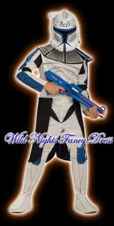 FANCY DRESS ~ BOYS STAR WARS CLONE TROOPER REX MED 5 7