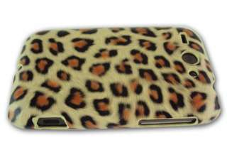 NEW CHEETAH LEOPARD PRINT HARD CASE COVER FOR HTC WILDFIRE G8