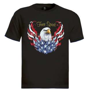 American flag eagle T shirt vintage biker cool rare USA