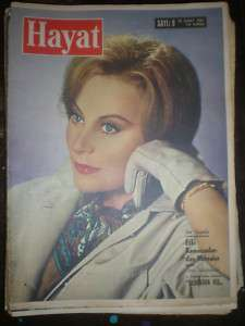 English Actress Belinda Lee Hayat Turkish Mag. 1957
