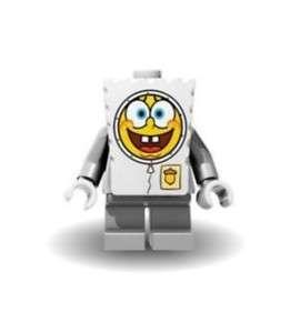 Lego Minifigure SPONGEBOB ASTRONAUT Funny ! Great Gift