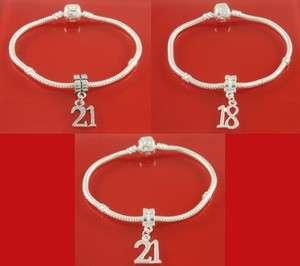 silver plated charm bracelet 18 21 birthday charms bracelet with love