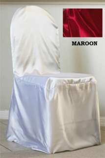 NEW SAMPLE WEDDING SATIN CHAIR COVER FOR SALE FREE SHIP