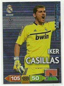 Champions League Adrenalyn 2011 2012 Iker Casillas Top Master 11 12