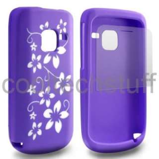 FOR NOKIA C3 00 PURPLE SILICONE GEL SKIN RUBBER CASE COVER +SCREEN
