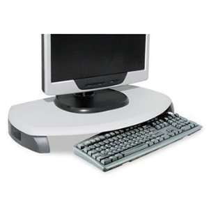Kantek CRT/LCD Stand with Keyboard Storage STAND,MONITOR,UPTO 21,GY
