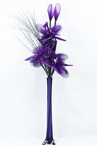 Purple Artificial Flowers   Flower Arrangement in Vase