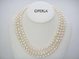 Collar 130 cm PERLAS CULTIVADAS & CHRYSOPRAS   OPERLA