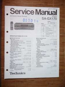 Service Manual Technics SA GX170 Receiver,ORIGINAL