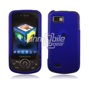 VMG Dark Blue Hard 2 Pc Rubberized Texture Plastic Snap On Case for