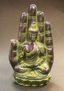 SOLID INDIAN BRASS BUDDHA STATUE GOD 2.2kg REDUCED