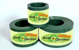Recycled plastic lawn edging roll , black green brown
