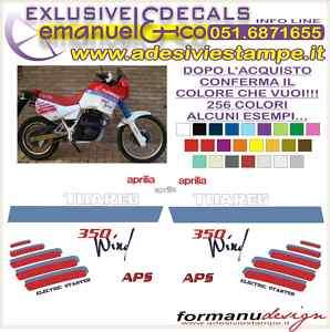 KIT ADESIVI DECAL APRILIA TUAREG 350 WIND 1987