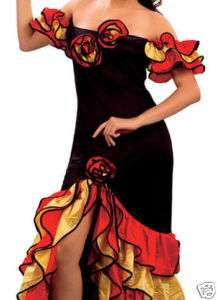RUMBA FLAMENCO samba SPANISH salsa FANCY DRESS 10 12 14