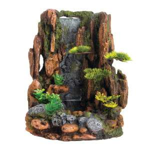 Hide out waterfall for reptile fish aquarium terrarium for Aquarium waterfall decoration