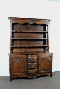 Provincial Solid Oak Kitchen Dresser With Plate Rack   c.1850s