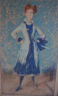 e1900s JAMES WHISTLER ORIGINAL ART PRINT~THE BLUE GIRL~STUDIO MAGAZINE