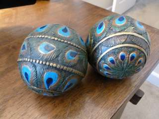 Peacock Feather Resin Orbs/Balls/Spheres/Globes Blue,Green,Brown,Gd