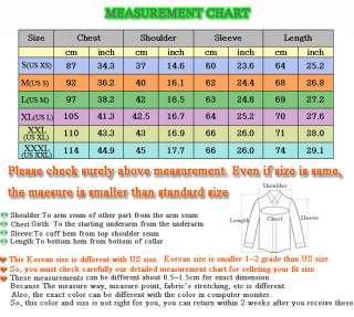 Mens casual dress shirt slim design All Color M~XXXL