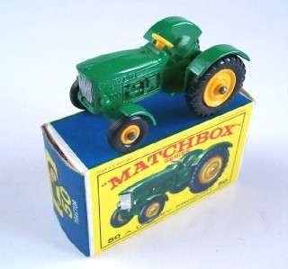 MATCHBOX LESNEY 50 JOHN DEERE FARM TRACTOR, 1964, MIB!