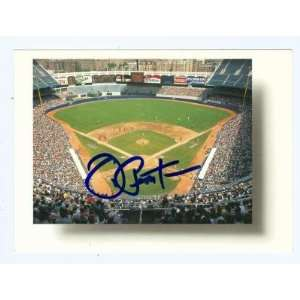 Joe Pepitone autographed postcard (New York Yankees) Yankee Stadium