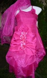 robe fille 4 ans rose fuschia cérémonie mariage cortège