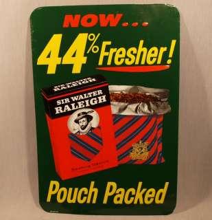 SIR WALTER RALEIGH SMOKING TOBACCO   ORIGINAL 1960S TIN SIGN