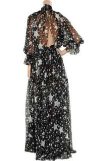 Dolce & Gabbana Star print silk chiffon gown   50% Off Now at THE