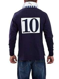 Raging Bull #10 rugby shirt shirt Navy
