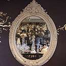 Large Ornate Oval Gold Mirror   interior accessories