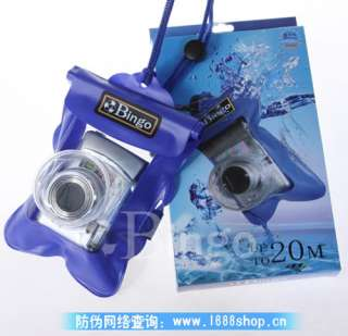 NEW WATERPROOF UNDERWATER DIGITAL CAMERA CASE COVER