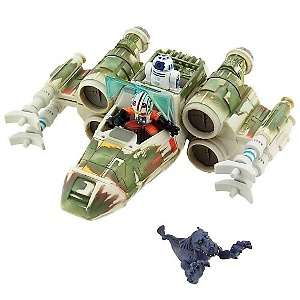 Star Wars Galactic Heroes X Wing Fighter on Dagobah Set