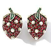 Heidi Daus Crystal Accented Strawberry Design Earrings