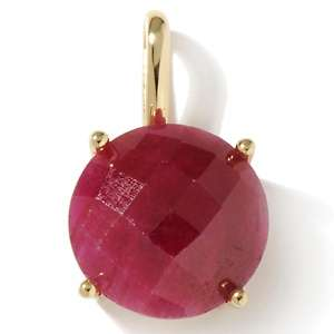 Princess Jaipur 15ct Ruby Gold Plated Sterling Silver Checkerboard Cut