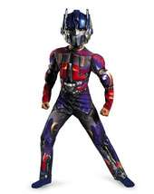 boys costumes   BOYS CLASSIC MUSCLE TRANSFORMERS 3 MOVIE
