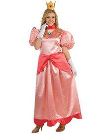 home adult costumes cartoon costumes princess peach deluxe plus adult