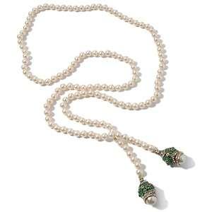 Heidi Daus Imperial Elegance Crystal Accented Lariat Necklace