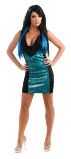 Jersey Shore Jwoww Black Dress With Blue Snake Accents Adult Costume
