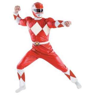 Red Ranger Classic Adult Costume   Includes jumsuit, belt, helmet