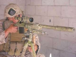 Action Figure Sniper Rifle Gun Model Marine Corps Green G_8024A
