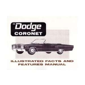 1966 DODGE CORONET Facts Features Sales Brochure Book