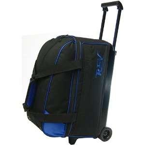 Rev Double Roller Blue/Black Bowling Bag  Sports