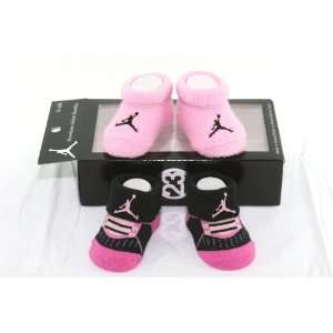 Nike Air Jordan 2 Pairs Newborn Infant Baby Booties Socks