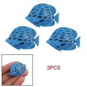 Black Dotted Blue Plastic Tropical Fish for Aquarium