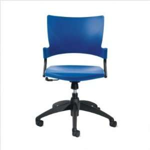 Relay Armless Swivel Task Chair Seat Color Black Office