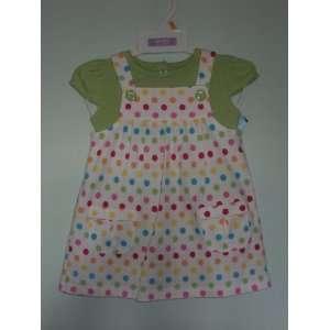 Girls 2 piece S/S Cotton Knit Jumper Set Polka Dot 12 Months Baby