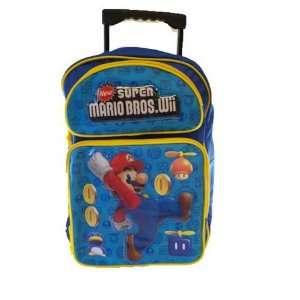 Super Mario Bros. Large Rolling BackPack with Nintendo Super Mario