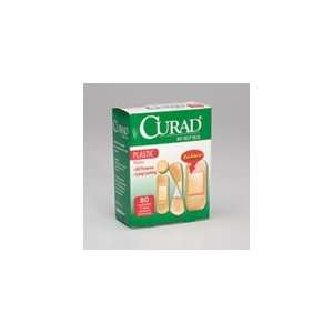 PT# 194 4214 Curad Adhesive Bandages Plastic Strips Assorted Box/80 BY