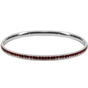 Crimson Crystal Bangle Bracelet