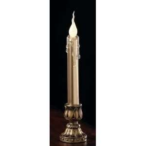 Pack of 4 Battery Operated Lighted LED Tapered Gold Christmas Candles
